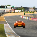Ligne droite des stands circuiit Bugatti