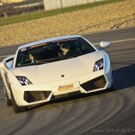 En appui en courbe Lamborghini Gallardo