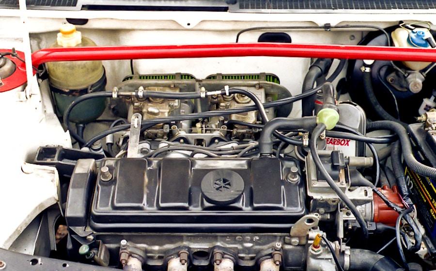 Le 1300cc avec ses 2 carbus double-corps Weber 40DCOM