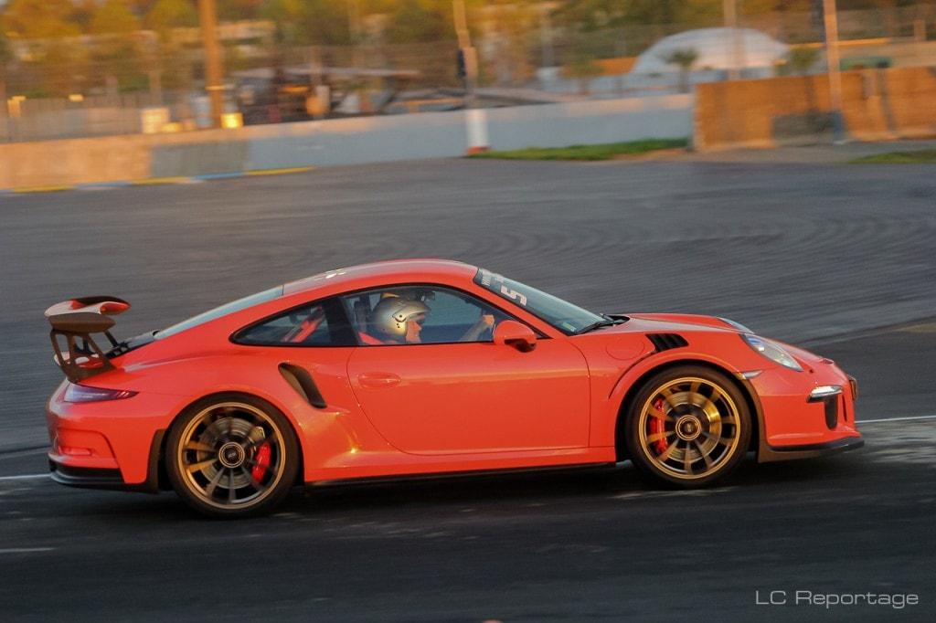 991 GT3 RS sur la piste de Maison Blanche au Mans