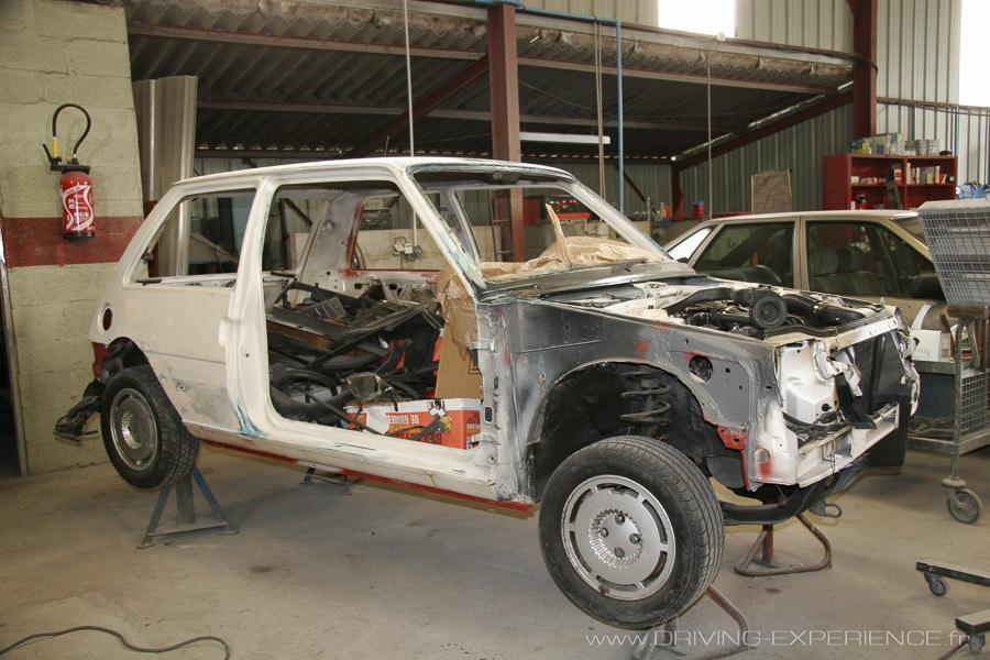 Restauration carrosserie R5 GT Turbo