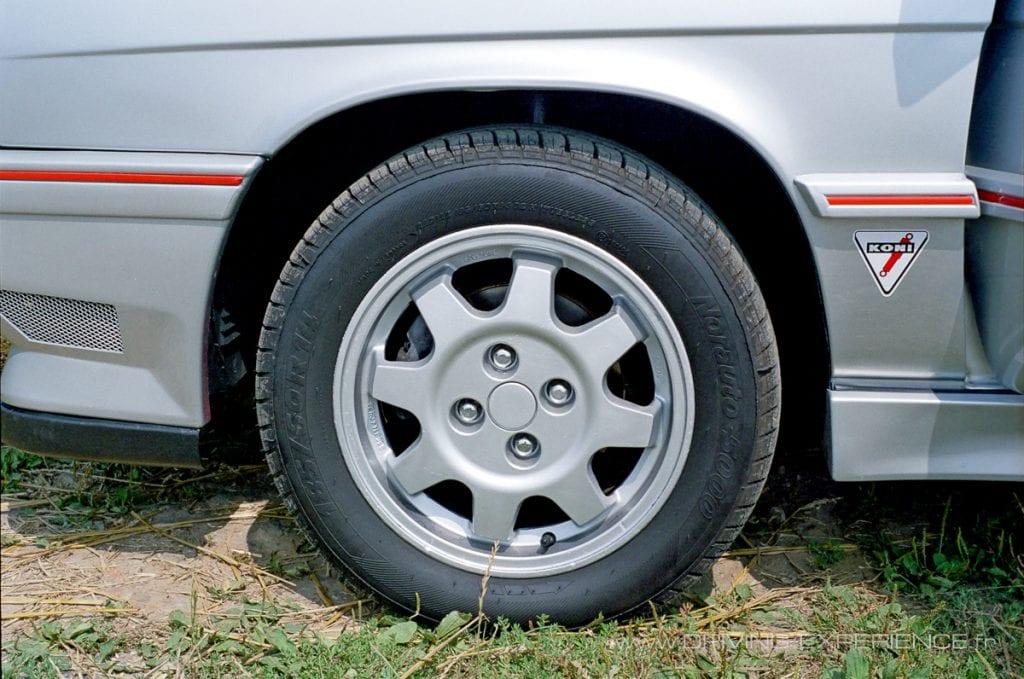 Jantes alu spécifiques pour la Renault 11 Turbo phase 2